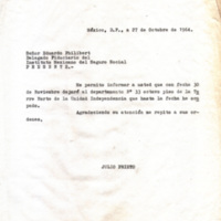 Carta de Julio Prieto a Eduardo Philibert