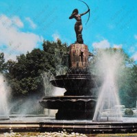 F44 Fuente de Diana Cazadora. The Diana, a beautiful fountain on the Paseo de la Reforma