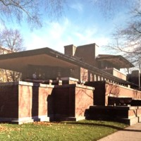 A6 Frederik C. Robie House-1909 5757 S. Woodlawn Avenue, Chicago, Illinois. Frank Lloyd Wright, Architect